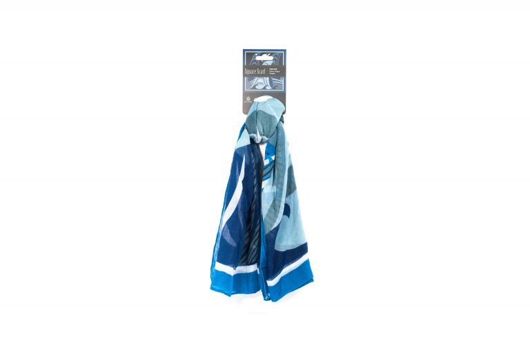 Native Northwest Square Scarf-Blue