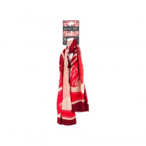 Native Northwest Square Scarf-Red Pink