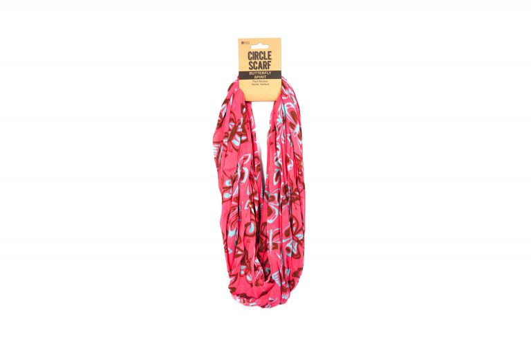 Native Northwest Circle Scarf-Pink Blue Brown