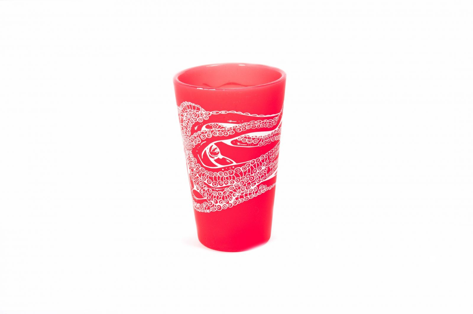 Octopus Ink Tumbler-Red