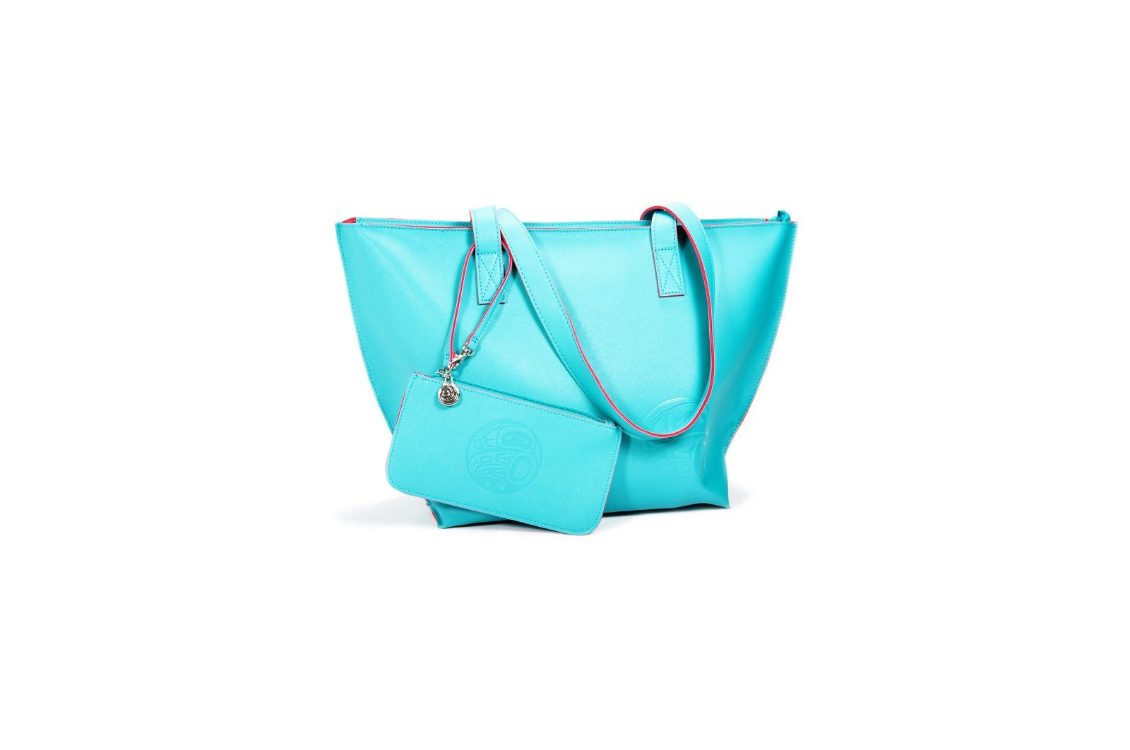 Native Northwest Moonlight Tote Bag Set-Aqua